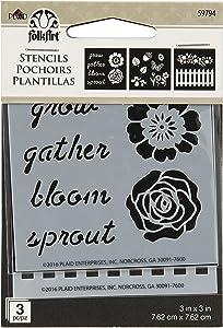 FolkArt Garden Mini Stencil Pack