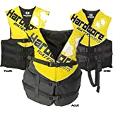 Hardcore Water Sports Life Jacket Vests For The Entire Family (ONE VEST INCLUDED) - US Coast Guard approved Type III