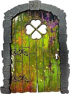 LulaRose Green Fairy Garden Door Elf Door Fairy Bank Gnome Door Hobbit Door Leprechaun Door Garden Accessory Garden Decor Playroom Accessory Kids Room Décor