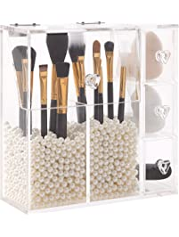marble makeup brush holder. putwo makeup organizer marble brush holder l