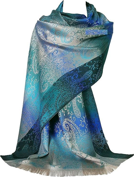 GFM flor de mosaico de diseño pashmina estilo bufanda (FRL1)