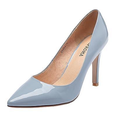 ZAPROMA Frau Leder Spitzschuh High Heel Pumps Schuhe
