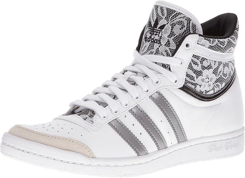 adidas Top Ten Hi Sleek W Schuhe 6,5 WhiteWhiteBlack