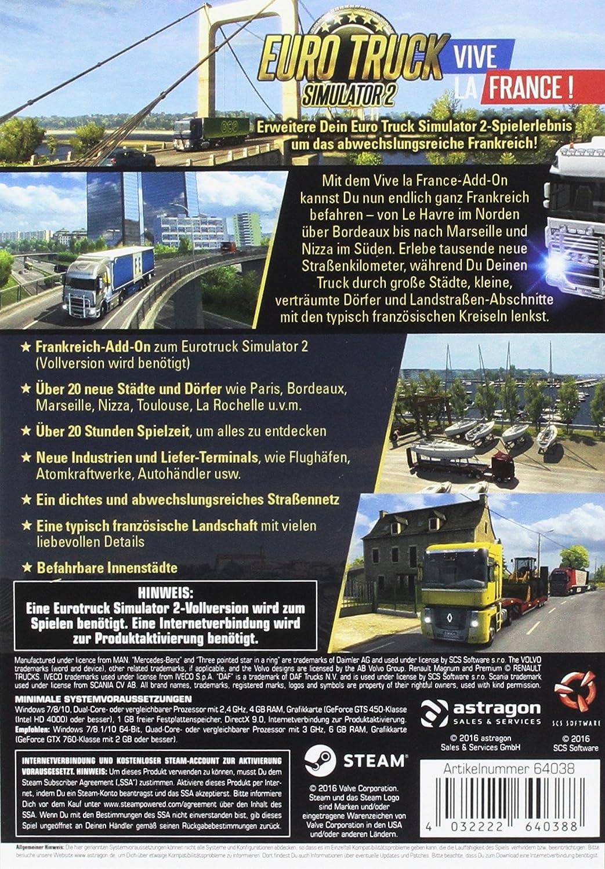Euro Truck Simulator 2: Vive la France (Add-On) [Importación Alemana]: Amazon.es: Videojuegos
