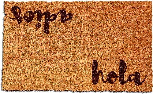 Hola – Adios Laser Engraved Coir Fiber Doormat 30 x 18