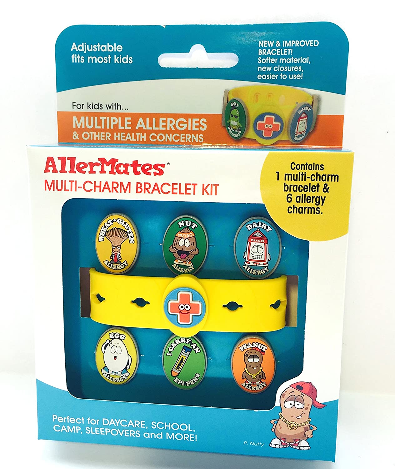 Amazon: New Multicharm Allergy Bracelet + 6 Allergy Charms (now  Includes Epipen Charm): Toys & Games