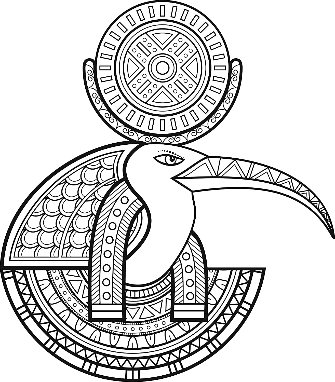 Amazon tribal pattern egyptian bird moon god ibis thoth vinyl amazon tribal pattern egyptian bird moon god ibis thoth vinyl decal sticker 12 tall automotive biocorpaavc Gallery