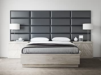vant upholstered headboards accent wall panels packs of 4 deluxe leather greystone