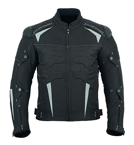 LeatherTeknik Cordura CJ-9484 - Chaqueta impermeable para moto (con 7 brazos), color negro