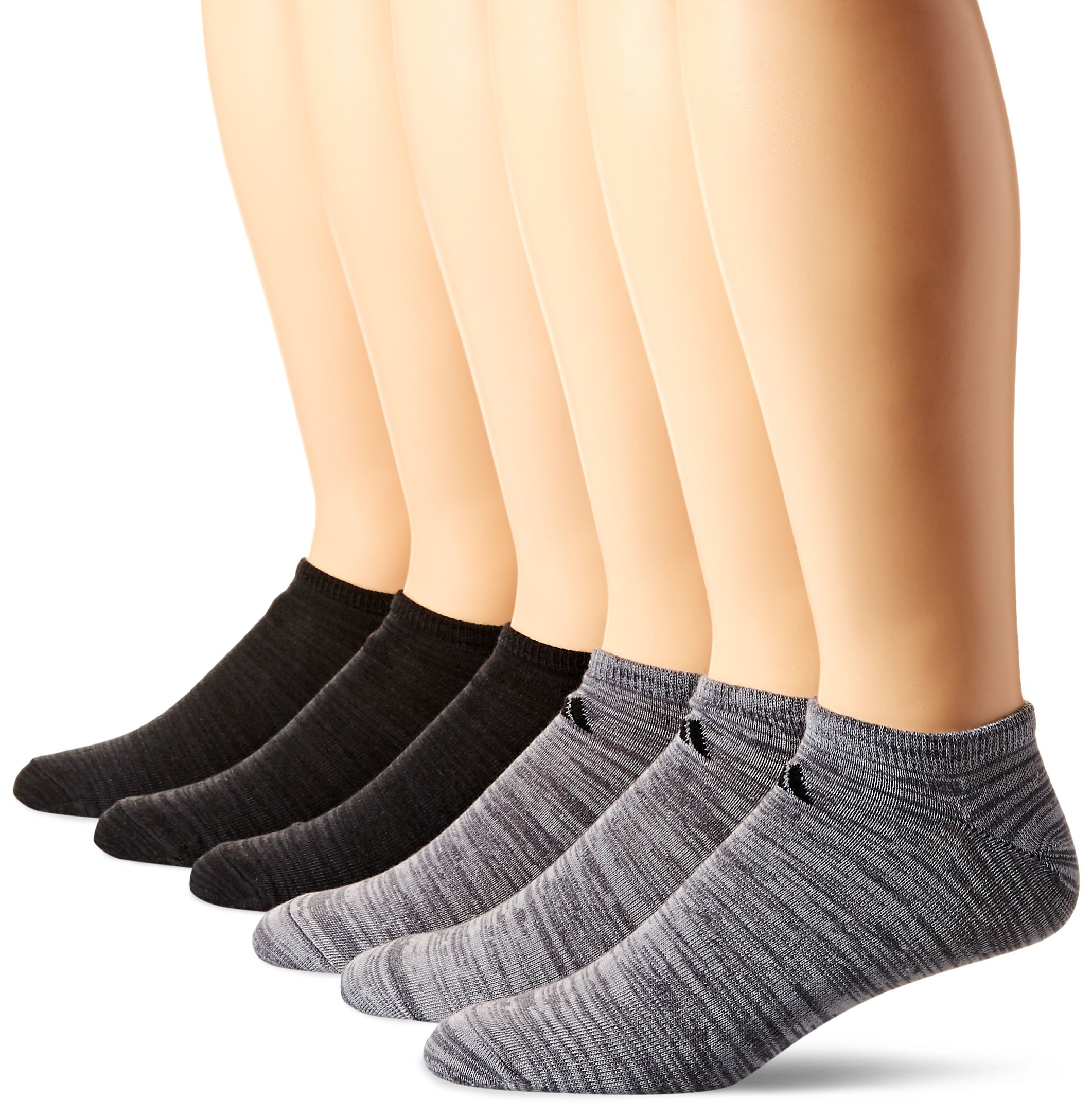 adidas Men's Superlite Low Cut Socks (6-Pair), Onix - Clear Onix Space Dye/Black Black - Night Grey S, Large, (Shoe Size 6-12) by adidas