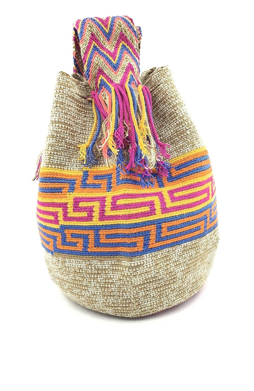 COLMBIAN STYLE colombianska handväskor med unika tryck, Wayuu-ryggsäck för kvinnor och män., - Korome - STANDARD Cordillera