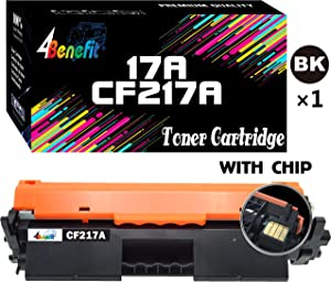 4Benefit Compatible Toner Cartridge Replacement for HP 17A CF217A 217A to Used for HP Laserjet Pro M102w M102a M130 M102 M130fw M130nw M130fn M130a Printer (Black, with Chip, 1-Pack)