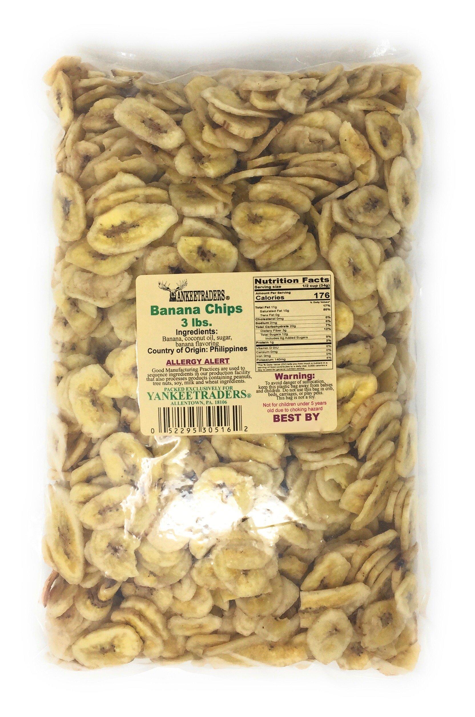 Dried Banana Chips, Yankee Traders Brand - 3 Lbs. by YANKEETRADERS (Image #2)