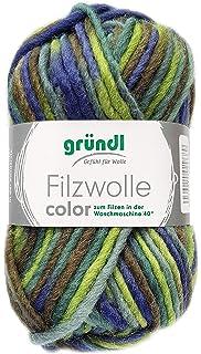 Gründl 50 Gr. Filzwolle Wolle filzen + stricken uni Farbe 51