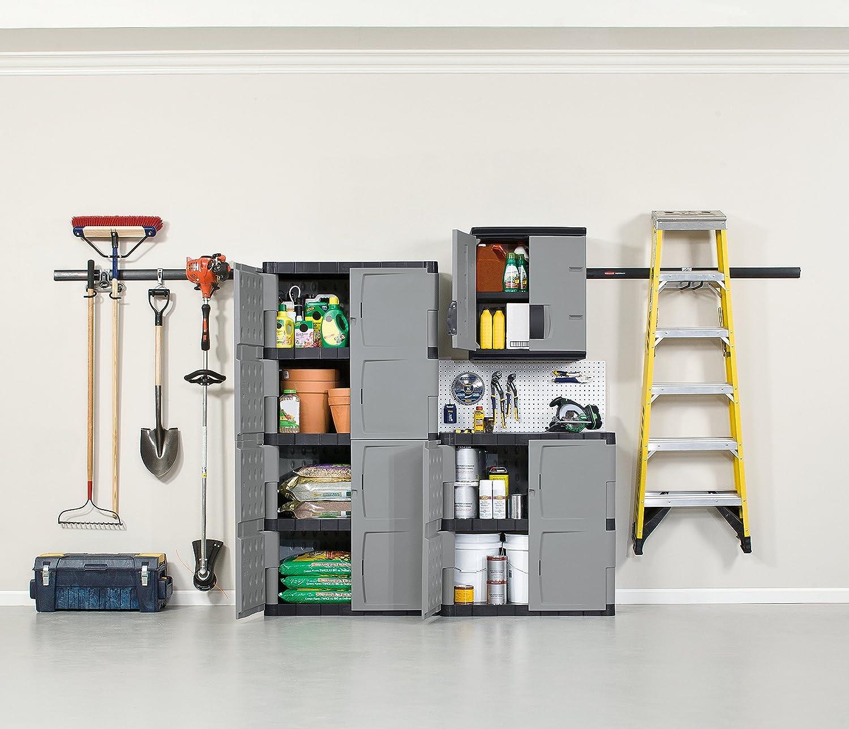 Amazon Rubbermaid 72 Inch Four Shelf Double Door Resin Storage