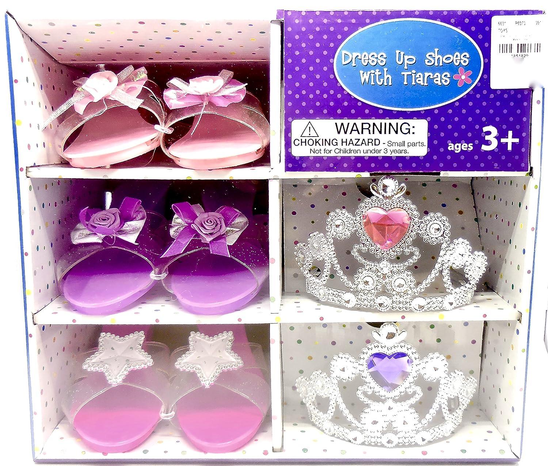 Girl shoes & Tiara Set 3 Pairs of shoes & 2 Tiaras With Storage Case