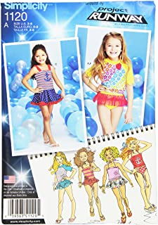product image for Simplicity Patterns 1120 Child's Rash Gaurd and Bathing Suit Pieces, A (3-4-5-6-7-8)
