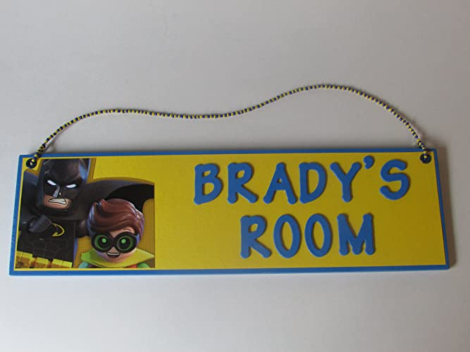 Amazon.com: Lego Batman Room Name Wall Sign - Personalized Lego ...