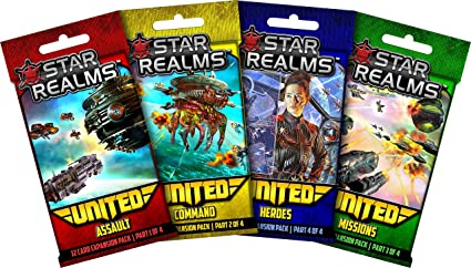 Star Realms: United - complete set of all four mini expansions (Assault, Command, Missions, Heroes) by Star Realms: Amazon.es: Juguetes y juegos