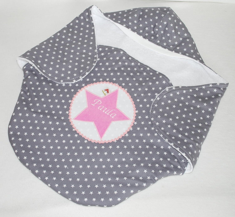 Einschlagdecke für Babyschale personalisiert mit Namen von Glückspilz