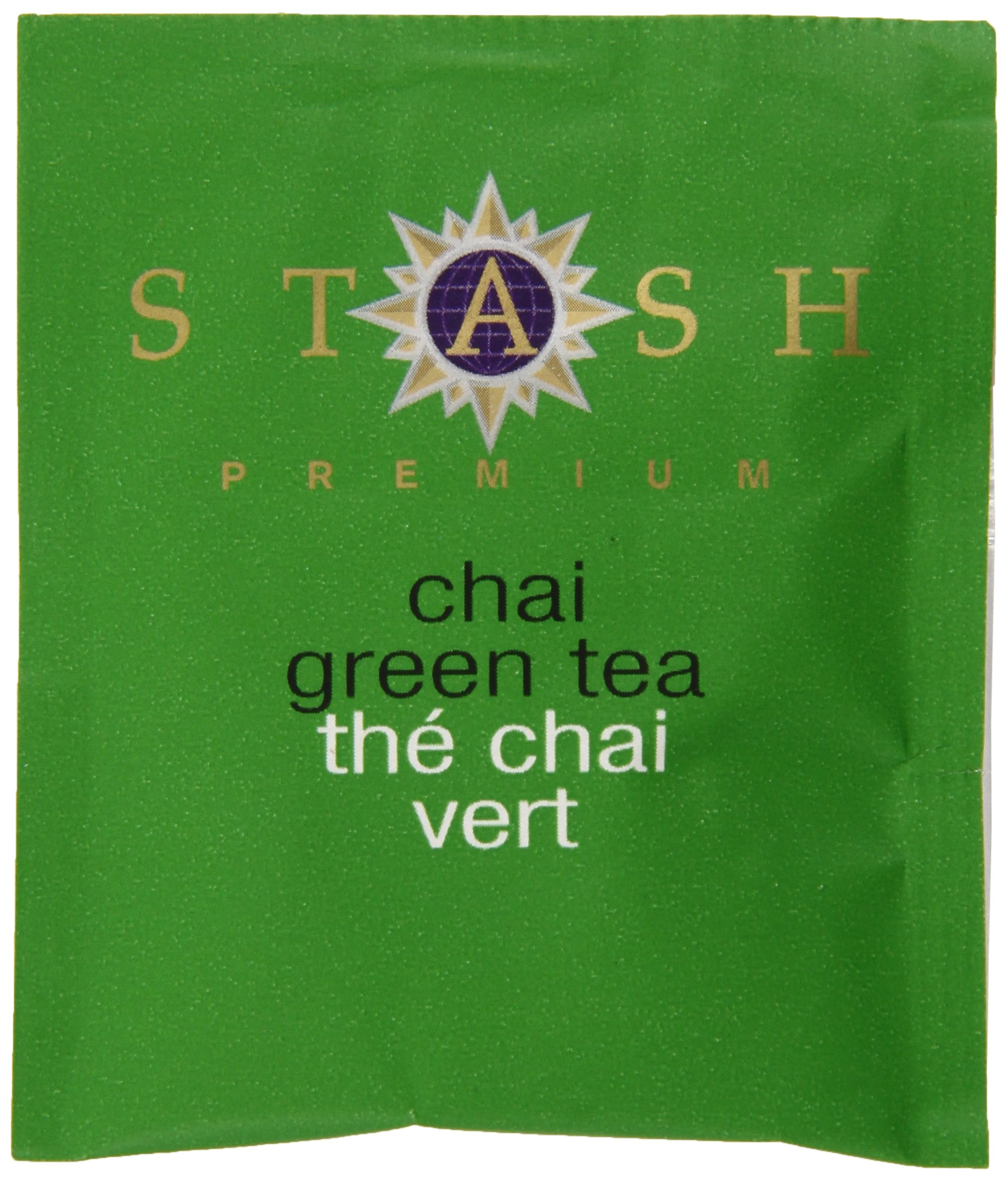 Stash Tea Green Chai Tea 10 Count Tea Bags in Foil (Pack of 12) (packaging may vary) Individual Spiced Green Tea Bags for Use in Teapots Mugs or Teacups, Brew Hot Tea or Iced Tea