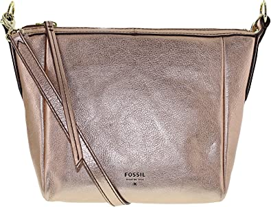 Fossil Sydney Metallic Leather Crossbody Bag (Rose Gold)  Fossil ... c48a6816bf954
