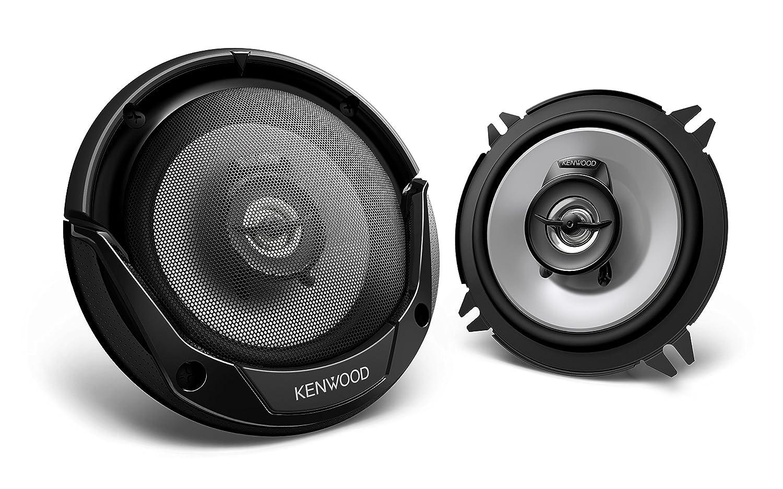 Kenwood KFC-E1365 - Altavoces coaxiales para coche de 250 W (2 ví as, 91 dB), negro