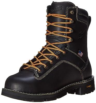 Danner Men's Quarry USA 8-Inch Alloy Toe Work Boot Black 12 EE US