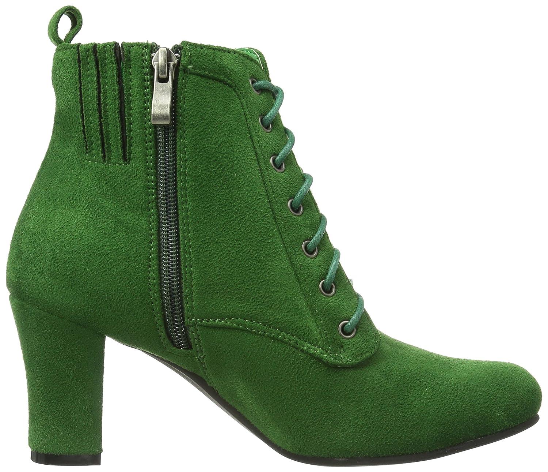 Hirschkogel By Andrea Conti 3617400199 - Botines tacón, talla: 35 EU (3 Damen UK), color: verde - Grün (grasgrün): Amazon.es: Zapatos y complementos