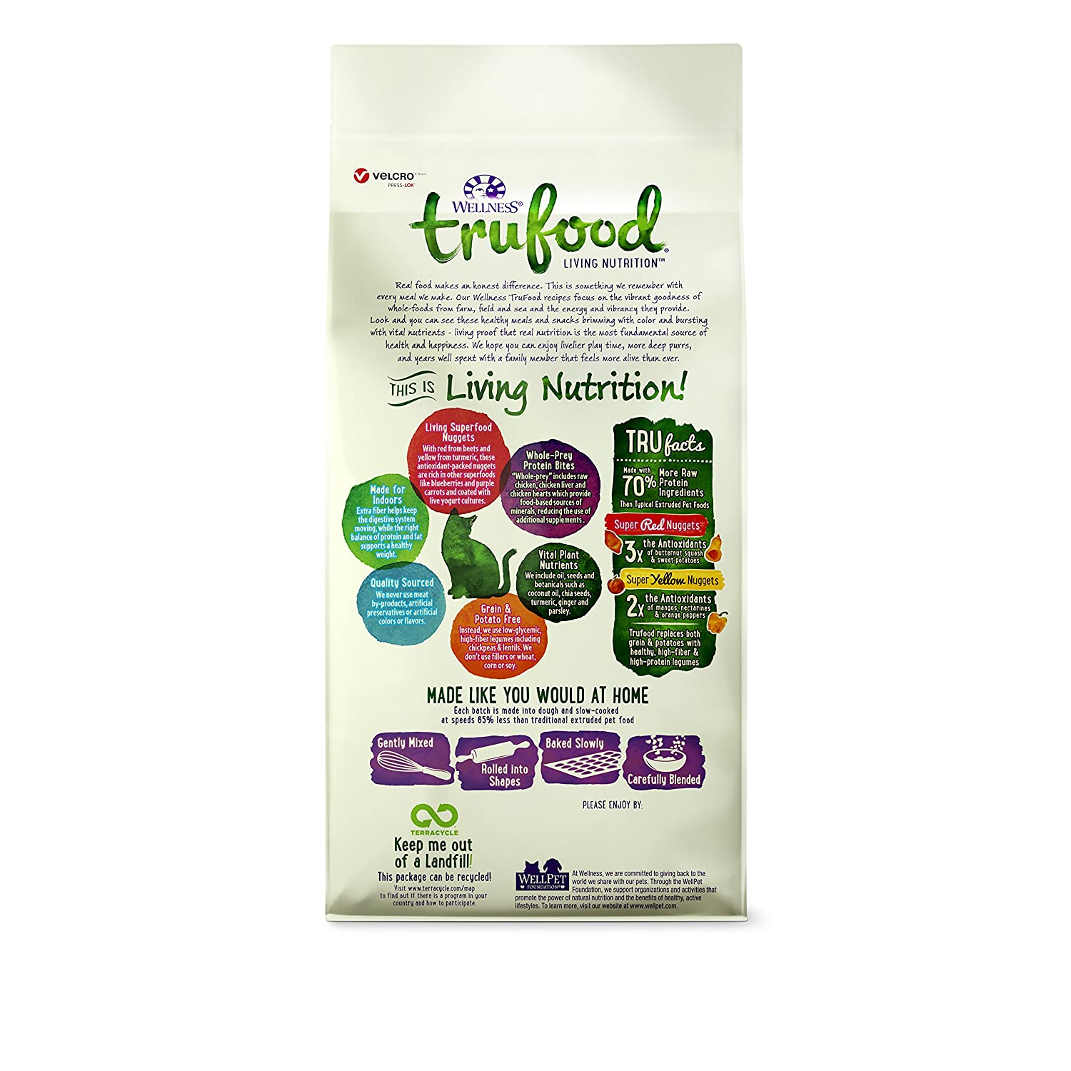 Amazon wellness trufood baked blends natural grain free dry amazon wellness trufood baked blends natural grain free dry raw indoor cat food chicken 2 pound bag pet supplies forumfinder Images