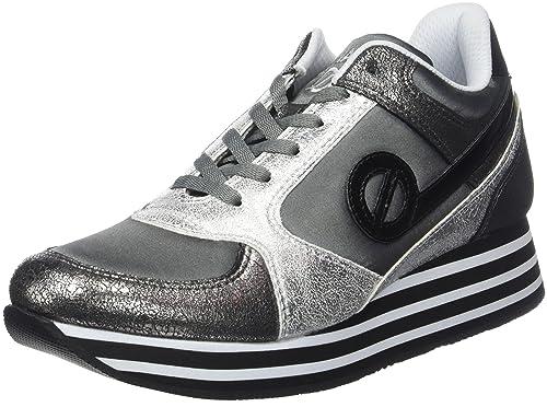 No Name - Zapatillas de Deporte de Sintético Mujer, Gris (Gris (Plomb/Antik WP)), 40 EU: Amazon.es: Zapatos y complementos