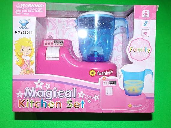 Magical Kitchen Set Batidora de Juguete Rosa con luz y Sonido ...