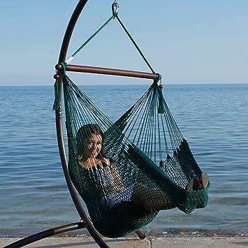 caribbean hammock chair with footrest   40 inch   soft spun polyester    green amazon    caribbean hammock chair with footrest   40 inch   soft      rh   amazon