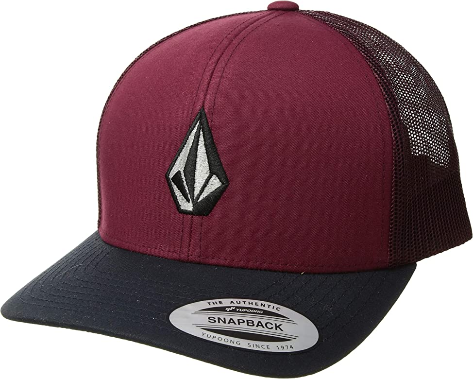 Volcom Mens Full Stone Cheese Snapback Hat Floyd Red Burgundy ...