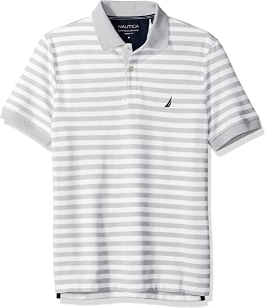 Nautica Classic Short Sleeve Stripe Polo Shirt