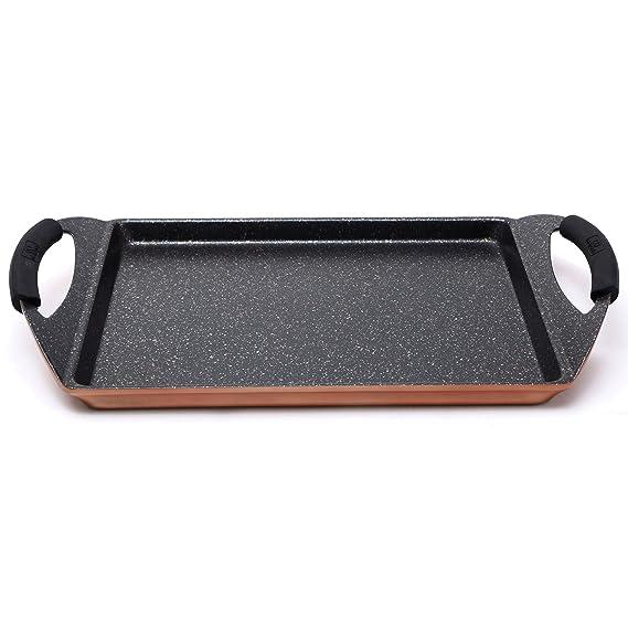 Bergner Infinity Chef Asador de Inducción, Aluminio Forjado, Marrón, 30x23 cm: Amazon.es: Hogar