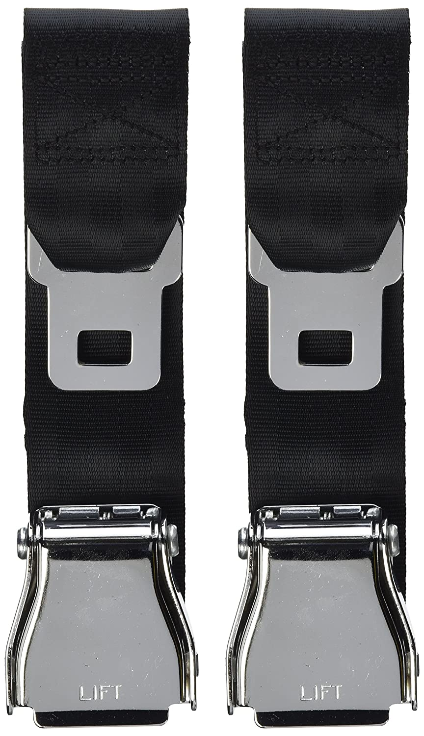 E4 SAFETY CERTIFIED Airplane Seatbelt Extensions (2-pack) - FITS ALL AIRLINES (except Southwest) - FREE VELOUR POUCH HY Auto Parts Co. Ltd. 6240061