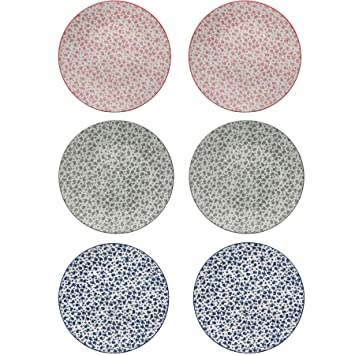 Flower Design Patterned Dinner Plates - 3 Designs - 265mm (10.5 Inches) - Pack  sc 1 st  Amazon.com & Amazon.com: Flower Design Patterned Dinner Plates - 3 Designs ...