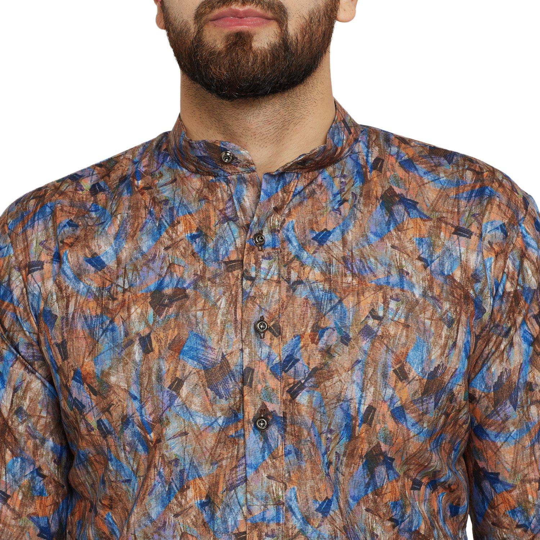 Indian-Traditional-Kurta-Pajama-Set-Shirt-Printed-Men-Kurta-Ethnic-Wear-XS-5XL thumbnail 11