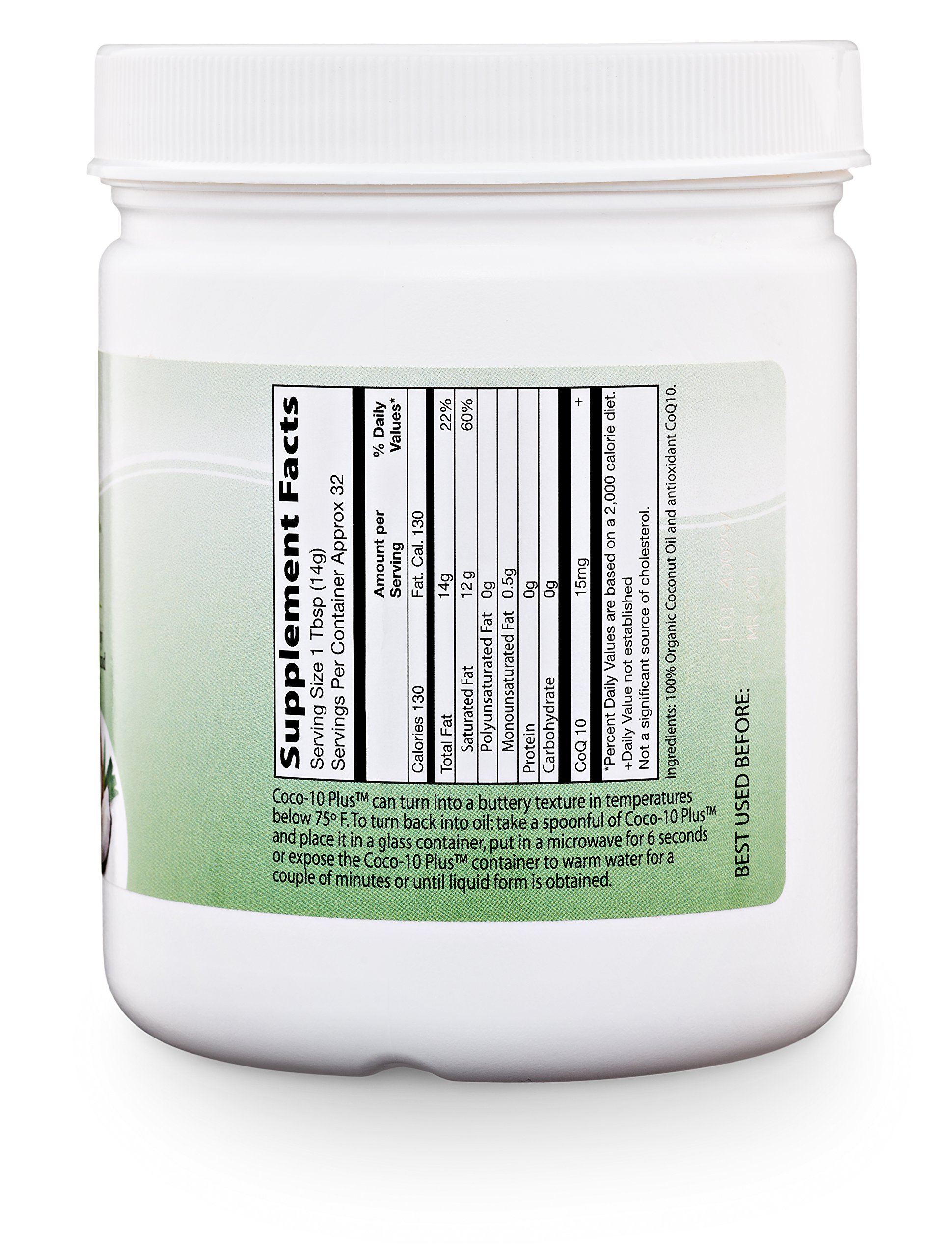 NaturalSlim''Super'' Organic Coconut Oil with CoQ10, Formulated by Obesity and Metabolism Specialist to Improve Energy Levels and Assist with Weight Loss - Natural Fat Burner to Any Diet Attempt 16 Oz by RelaxSlim  (Image #8)