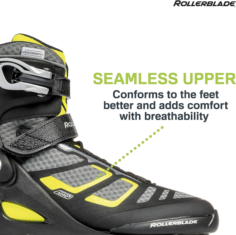 Black and Lime High Performance Inline Skates Rollerblade Macroblade 90 Alu Mens Adult Fitness Inline Skate