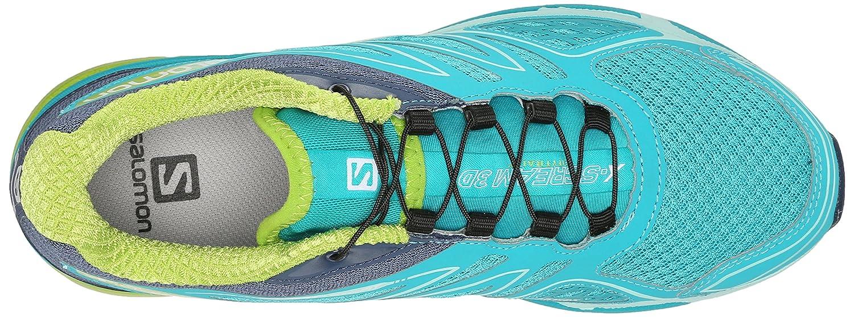 Salomon Women's X-Scream 3D W 6 Trail Running Shoe B00PRQGMFY 6 W B(M) US|Teal Blue F/Slateblue/Granny Green 328155
