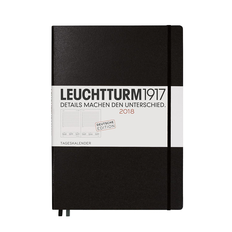LEUCHTTURM1917 355138 Tageskalender 2018 Master (A4+), Schwarz ...