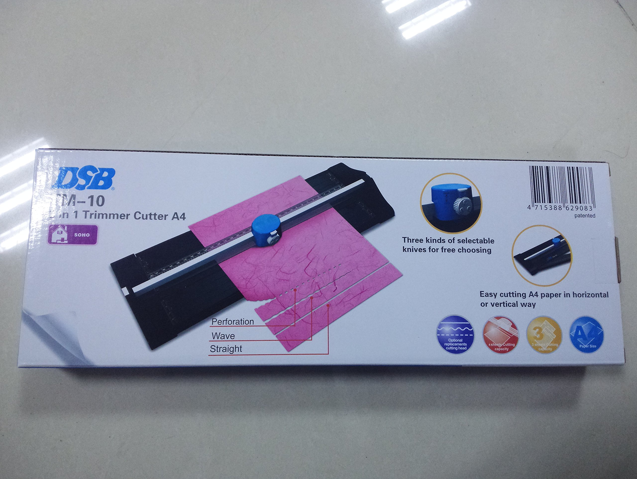 SHUOGOU A4 Paper Trimmer/Photo Cutter with Straight Perforation and Wave 3 Cutting Style - One Additional Cutting Mat Strip, Photos Or Labels by SHUOGOU (Image #7)