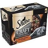 Sheba Craft - Bolsas para Gatos (Grises, 85 g, 12 Unidades, 4