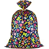 "Hallmark 56"" Jumbo XL Plastic Gift Bag (Pink and Yellow Flowers) for Birthdays, Mother's Day, Bridal Showers, Baby…"