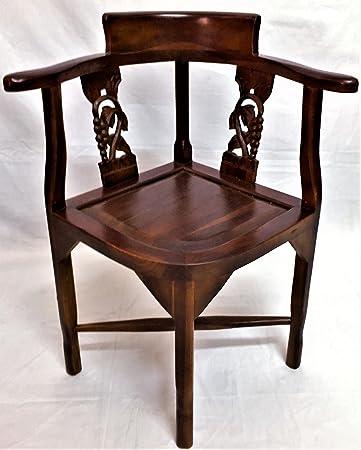 Sedia Etnica artigianale legno Teak Massello con intagli arredamento ...