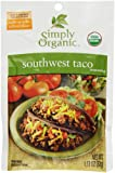 Simply Organic Seasoning Mix, Southwest Taco, 1.13 Oz