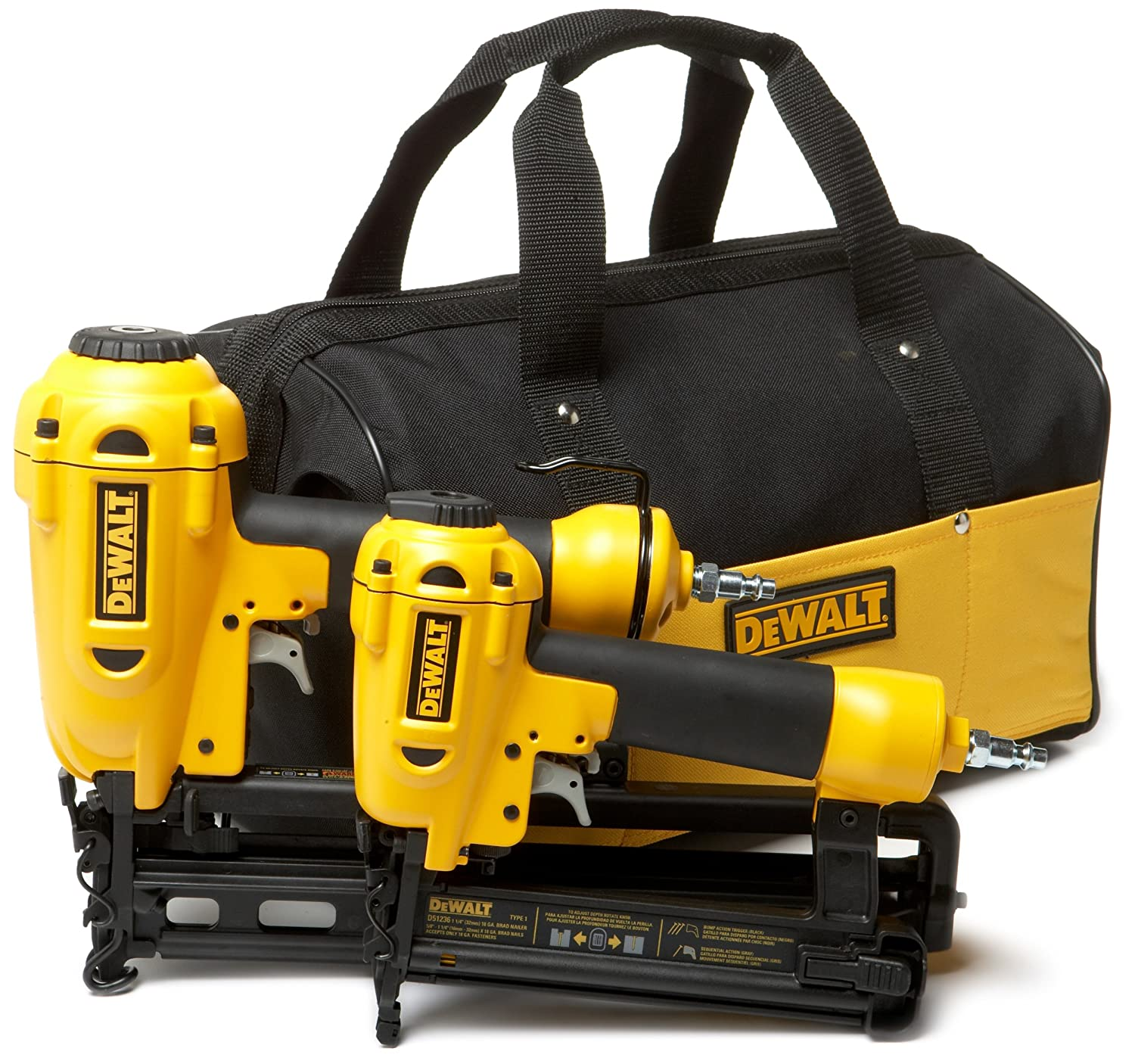 Amazon.com: DEWALT D55141FNBN 16-Gauge Finish Nailer/18-Gauge Brad ...