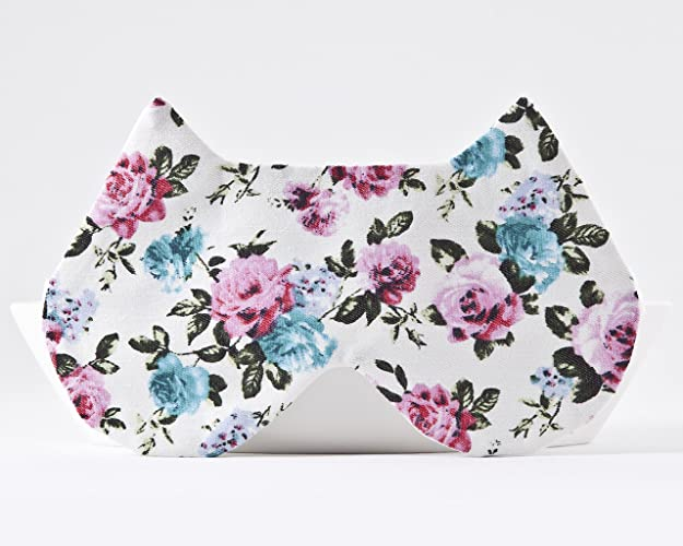 dccb14d16 Image Unavailable. Image not available for. Color  White Floral Sleeping  Mask ...